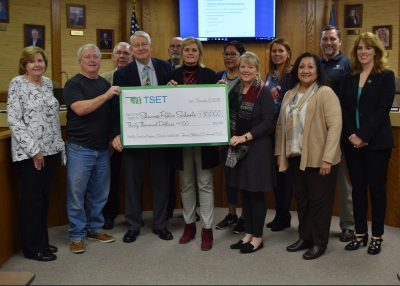 Shawnee Public Schools has received a $30,000 grant from the TSET Healthy Incentive Program because of the health and wellness policies our District has in place for students and staff. The grant will be used to further health and wellness initiatives. Th